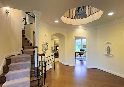 Foyer in Custom Home
